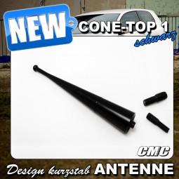 Con Top 1 Black Edition Antenne/Designantenne für alle PKWs mit M4,M5,M6 Gewinde