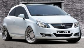 Opel Corsa D Scheinwerferblenden Set