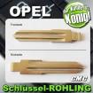 2x JOM Schlüsselrohlinge passend für Opel 710002