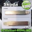 2x JOM Schlüsselrohlinge passend für Skoda 710022