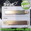 2x JOM Schlüsselrohlinge passend für Seat 710022